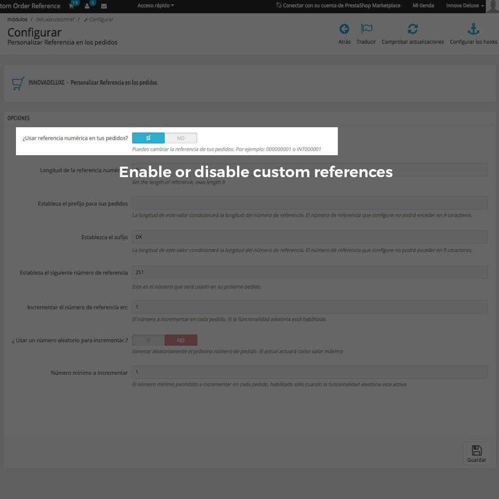 module - Бухгалтерии и выставления счетов - Customizing Order Reference - 3