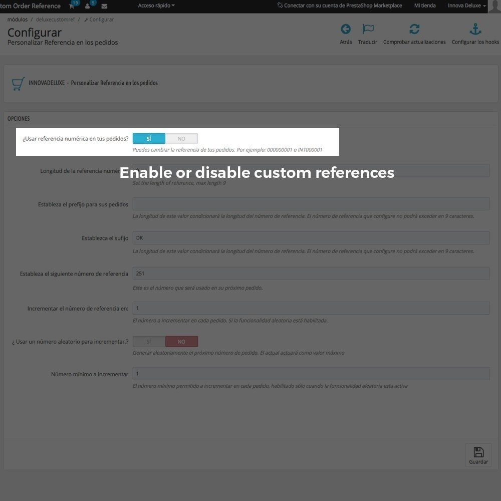 module - Buchhaltung & Rechnung - Customizing Order Reference - 3
