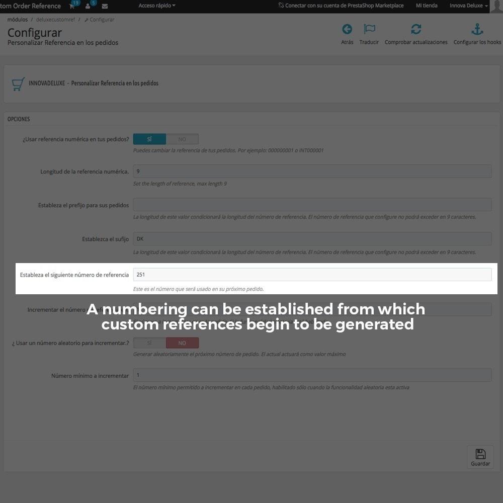 module - Бухгалтерии и выставления счетов - Customizing Order Reference - 7