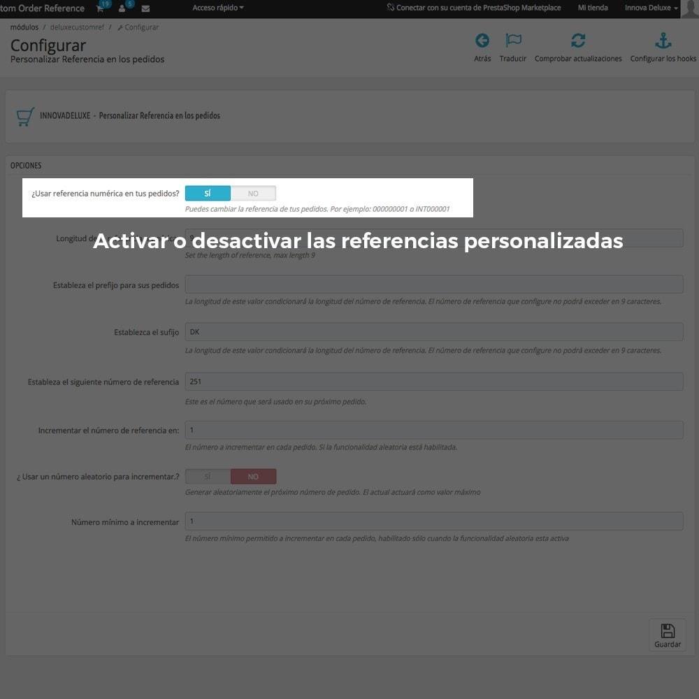 module - Contabilidad y Facturas - Personalización de la referencia de los pedidos - 3