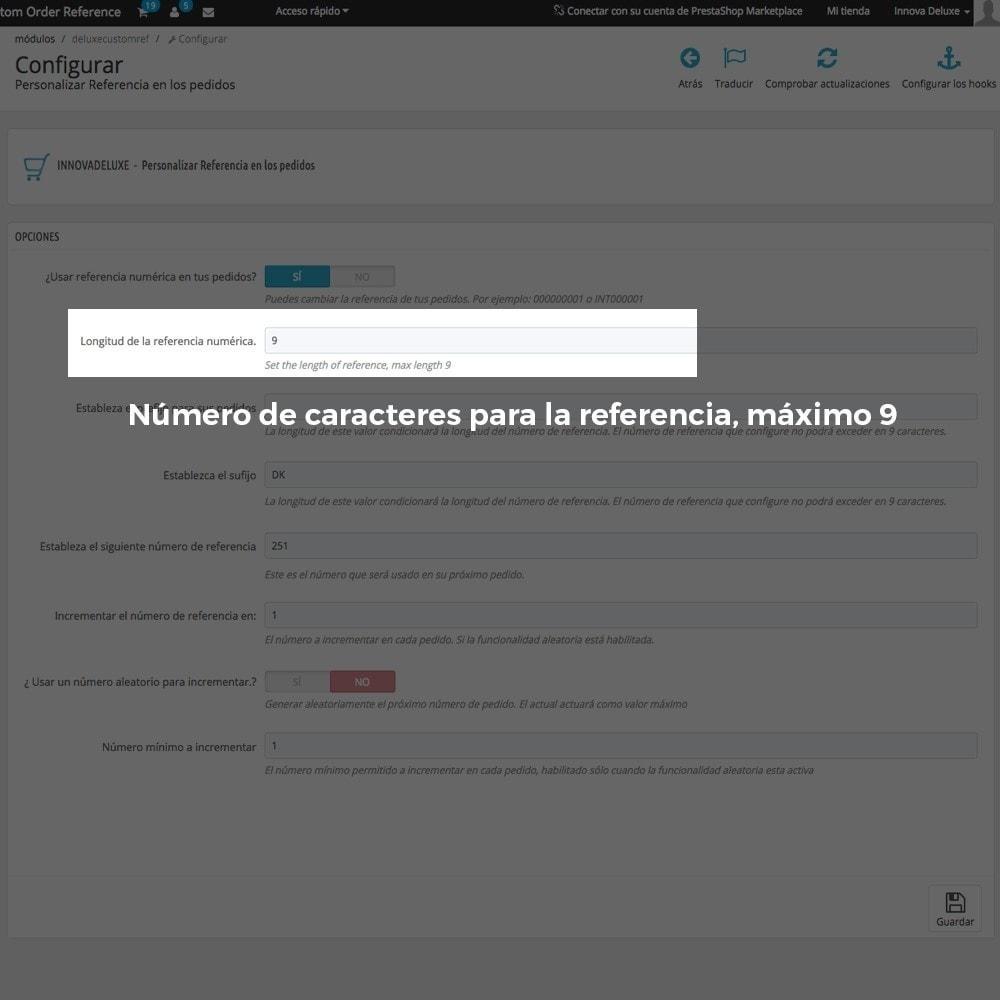 module - Contabilidad y Facturas - Personalización de la referencia de los pedidos - 4