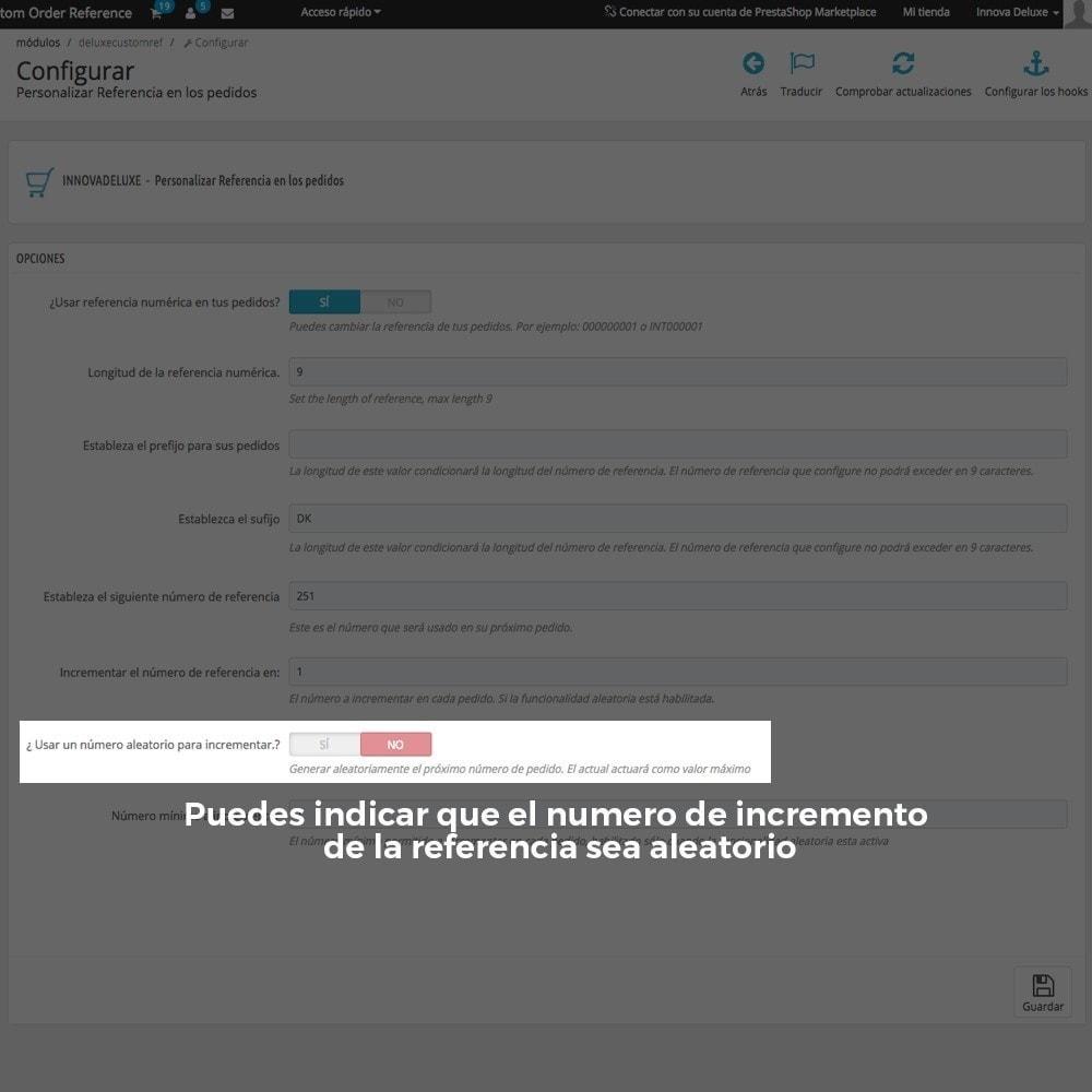 module - Contabilidad y Facturas - Personalización de la referencia de los pedidos - 9
