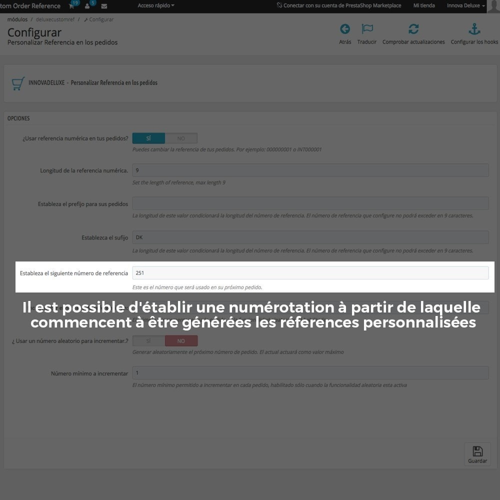 module - Comptabilité & Facturation - Personnalisation de la référence des commandes - 7