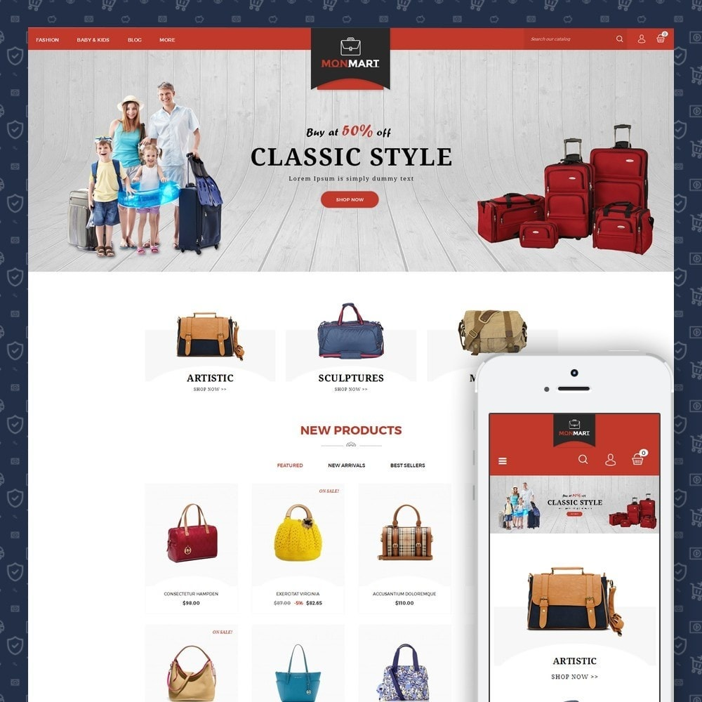 theme - Mode & Chaussures - MonMart Bag Store - 1