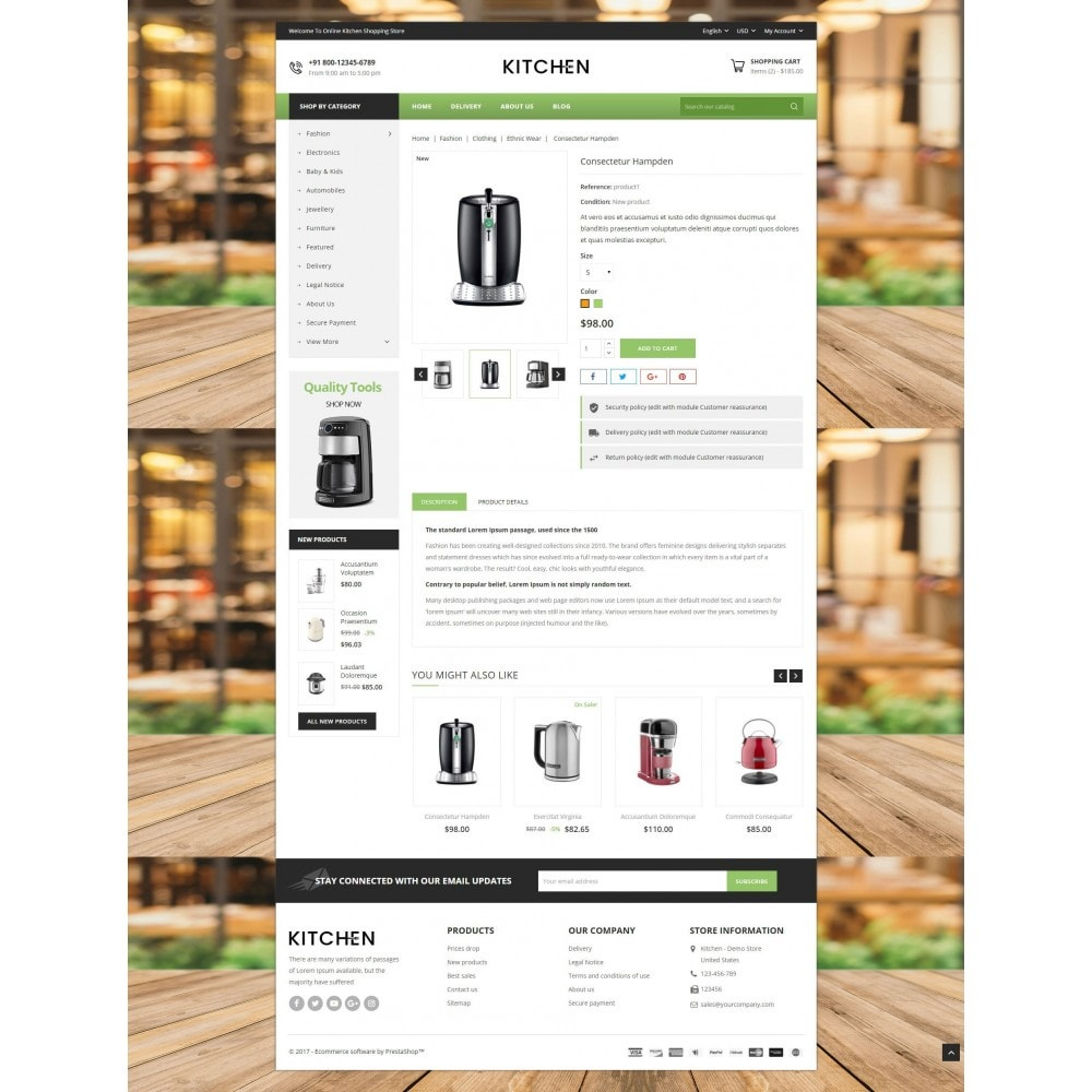 theme - Home & Garden - Online Kitchen Store - 5