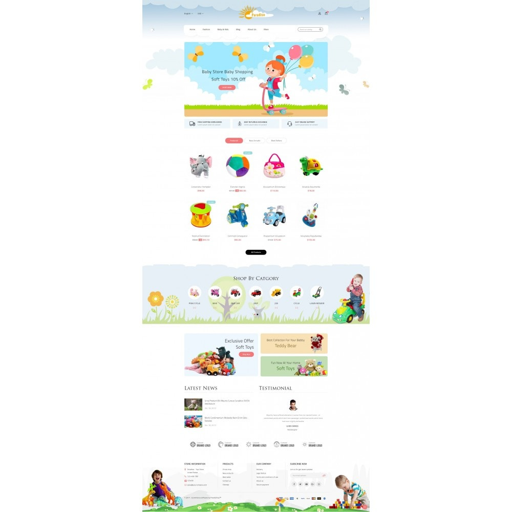 theme - Дети и Игрушки - Paradise Toys Store - 2