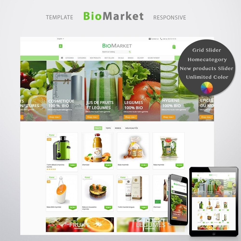 theme - Health & Beauty - Bio Market - 1