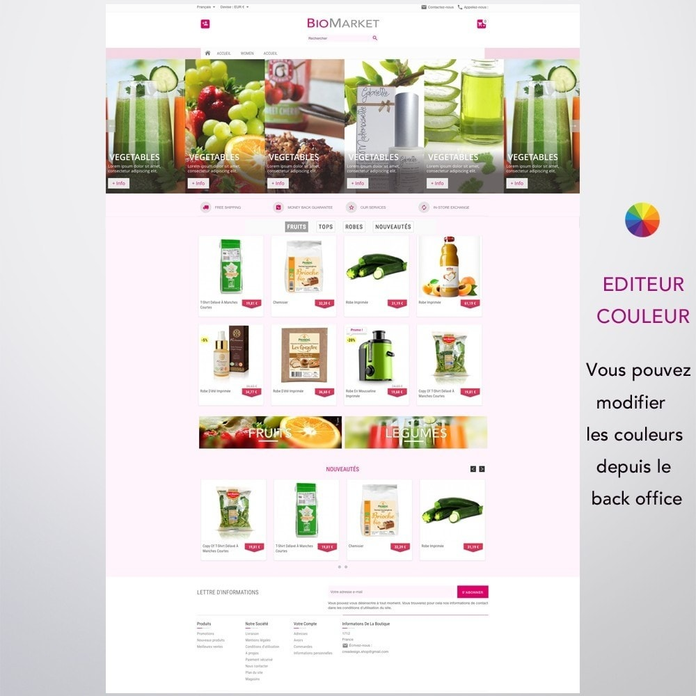 theme - Santé & Beauté - Bio Market - 3