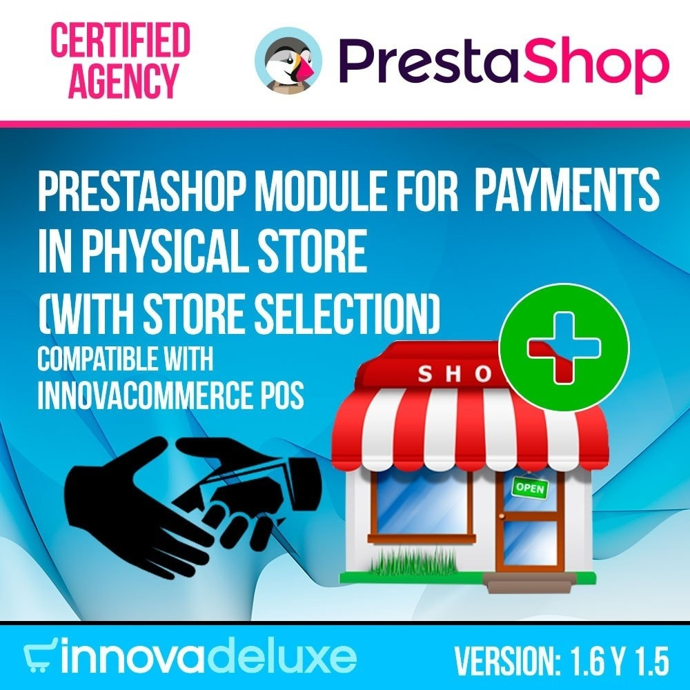 module - Betaling in de Winkel - Payments in store (select the physical store) - 1