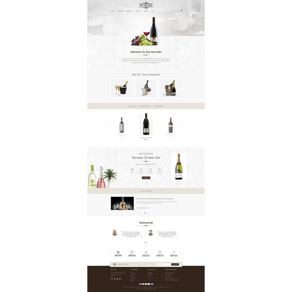 theme - Drank & Tabak - Winebar WIne Store - 2