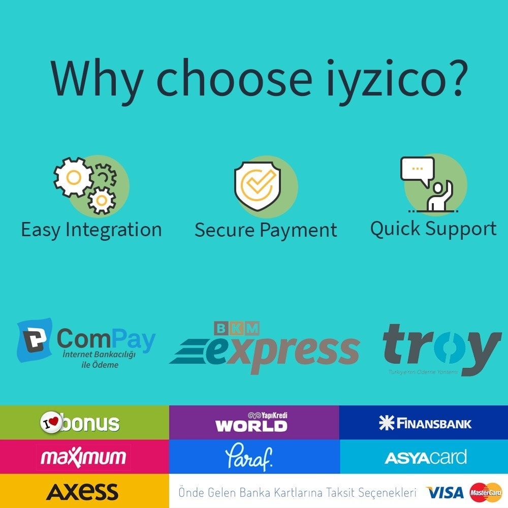 module - Zahlung per Kreditkarte oder Wallet - Iyzico Easy Payment Sanal POS for Turkey - 2