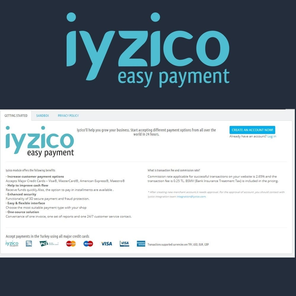 module - Zahlung per Kreditkarte oder Wallet - Iyzico Easy Payment Sanal POS for Turkey - 3