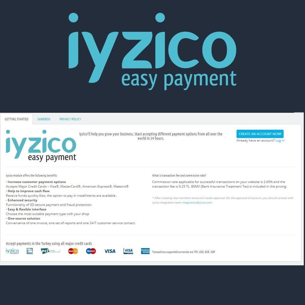 module - Pagamento con Carta di Credito o Wallet - Iyzico Easy Payment Sanal POS for Turkey - 3