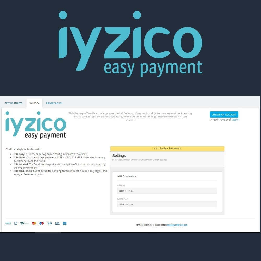 module - Pagamento con Carta di Credito o Wallet - Iyzico Easy Payment Sanal POS for Turkey - 4