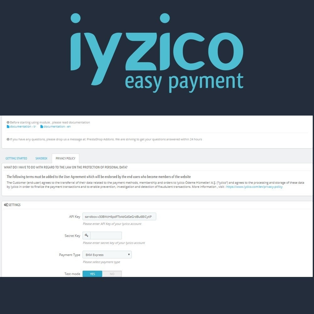 module - Zahlung per Kreditkarte oder Wallet - Iyzico Easy Payment Sanal POS for Turkey - 5