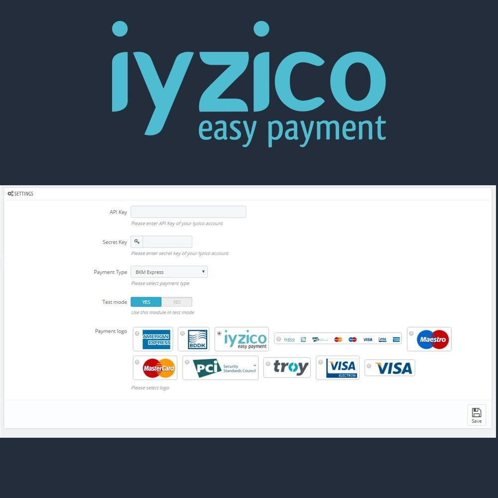 module - Creditcardbetaling of Walletbetaling - Iyzico Easy Payment Sanal POS for Turkey - 6