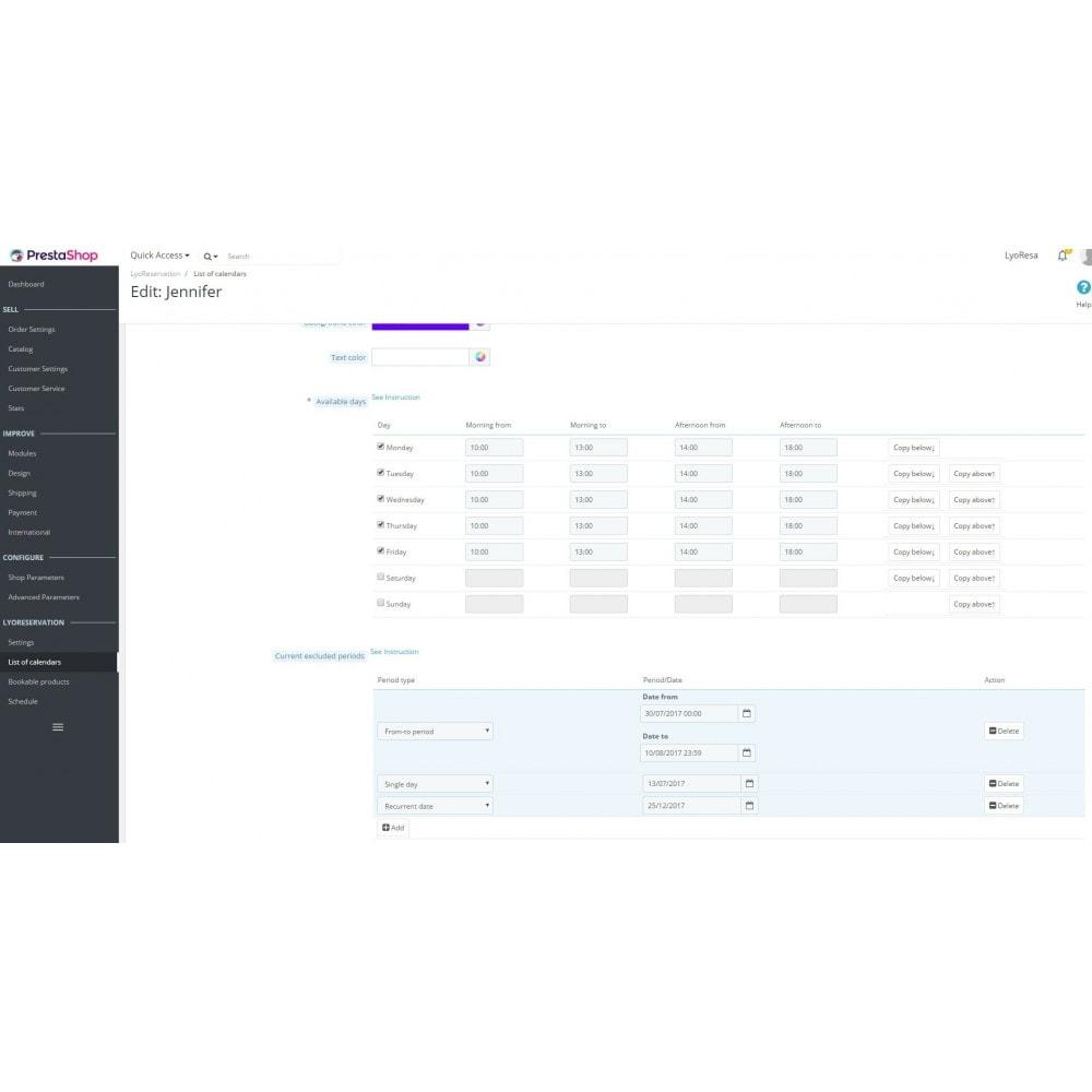 module - Reservierungen & Vermietung - Booking Services  - reservation and customized schedule - 4