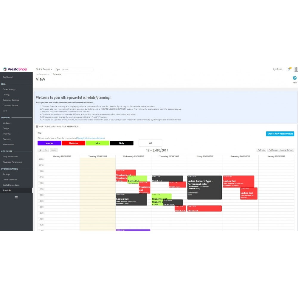 module - Reservierungen & Vermietung - Booking Services  - reservation and customized schedule - 8