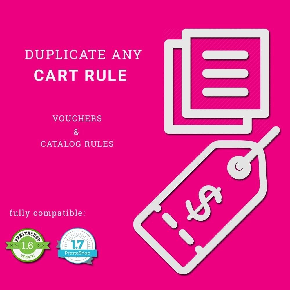 module - Promotions & Cadeaux - Duplicate Cart Rule - 1