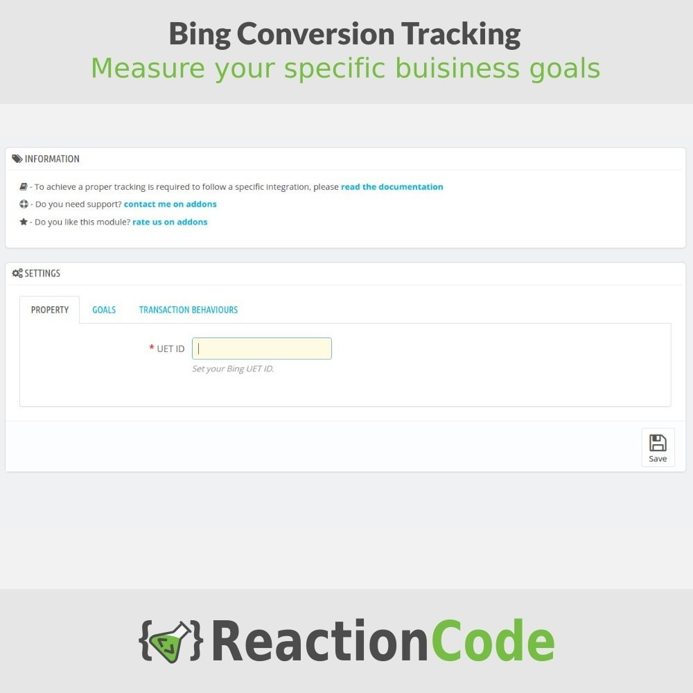 module - Analyses & Statistiques - Bing Conversion Tracking - 2