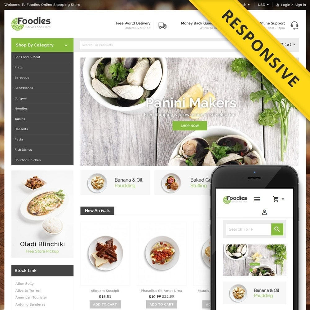 theme - Alimentos & Restaurantes - Foodies - Restaurant Store - 1