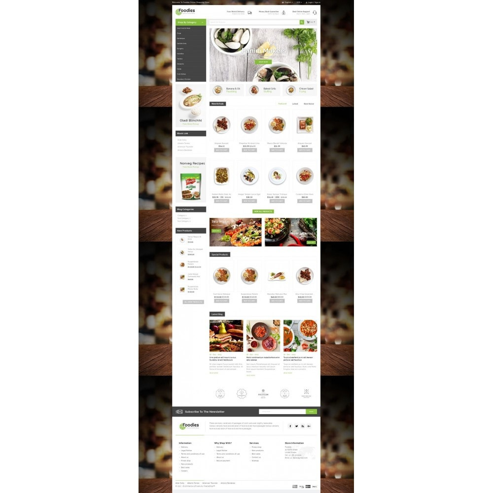 theme - Alimentos & Restaurantes - Foodies - Restaurant Store - 2