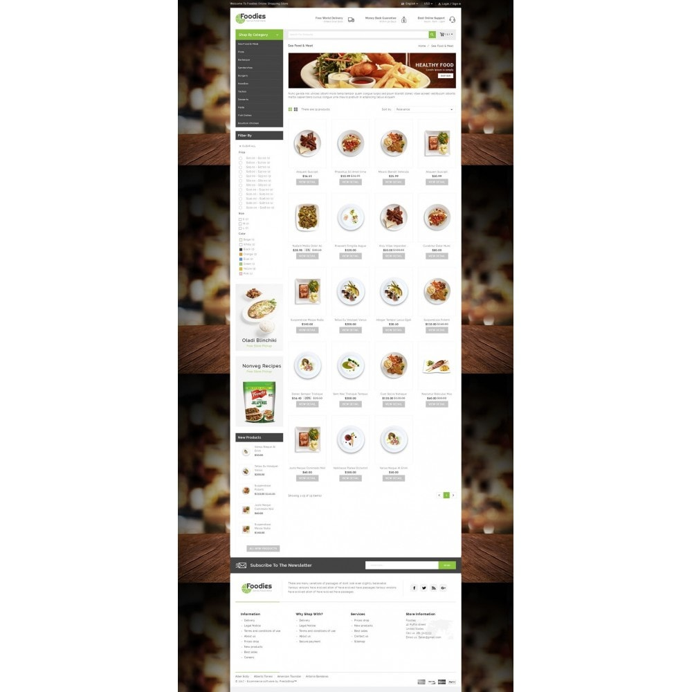 theme - Alimentos & Restaurantes - Foodies - Restaurant Store - 3