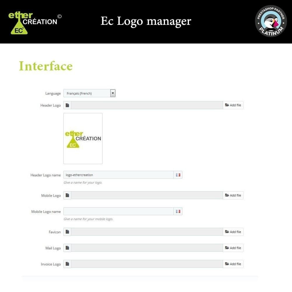 module - Internacional & Localização - Different logo according to the language - 1
