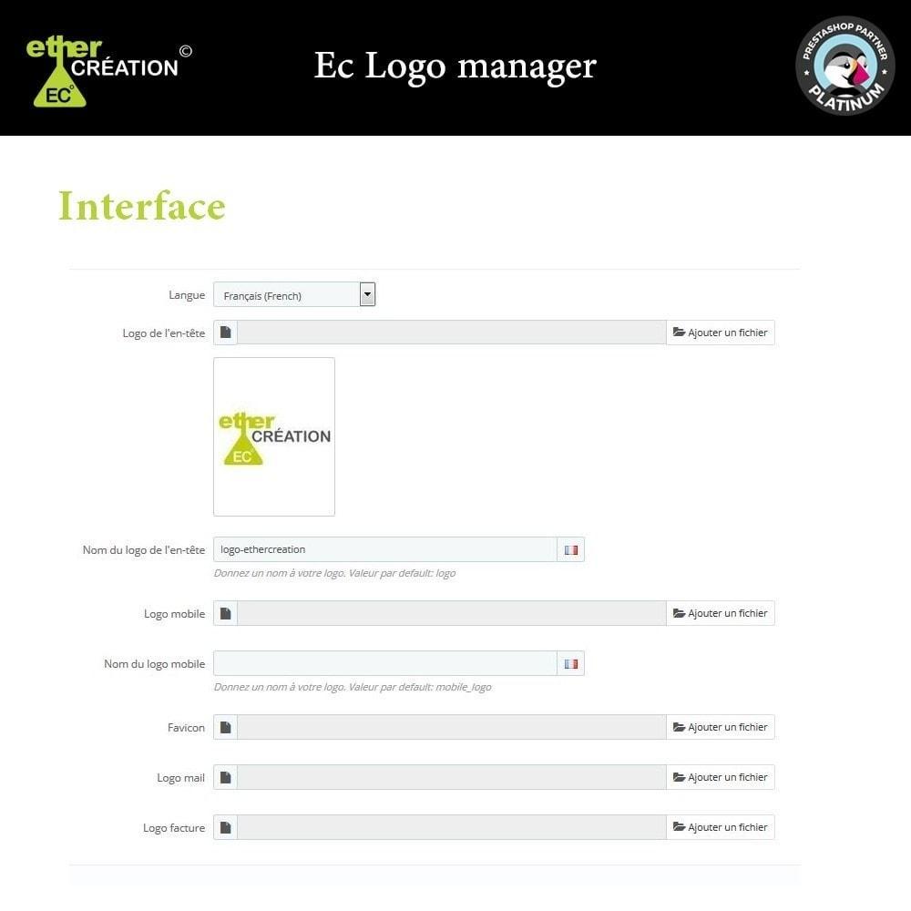 module - International & Localisation - Logo différent par langue sur le site, facture, mobile - 1