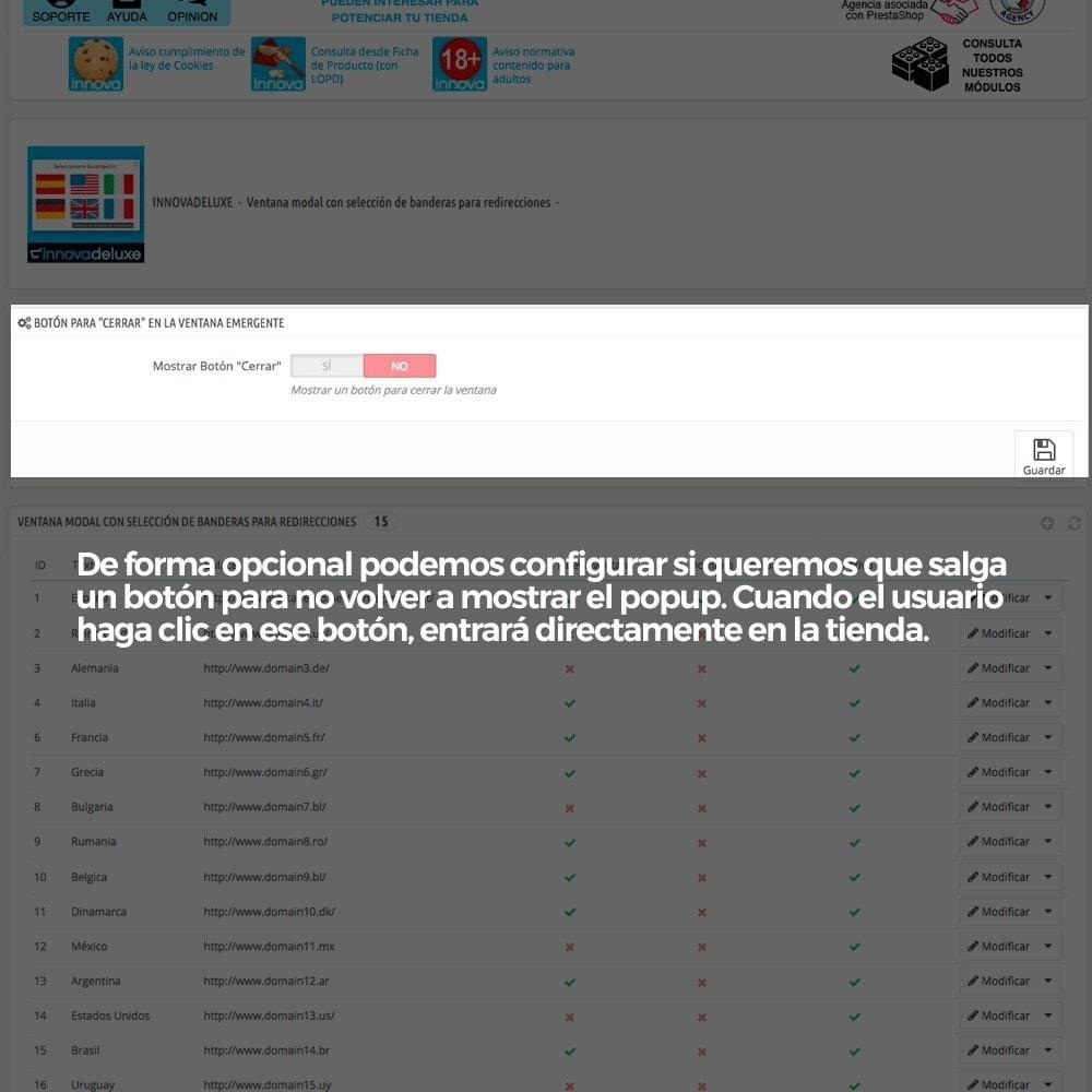 module - URL y Redirecciones - Popup con banderas para redireccionar a otros webs - 3