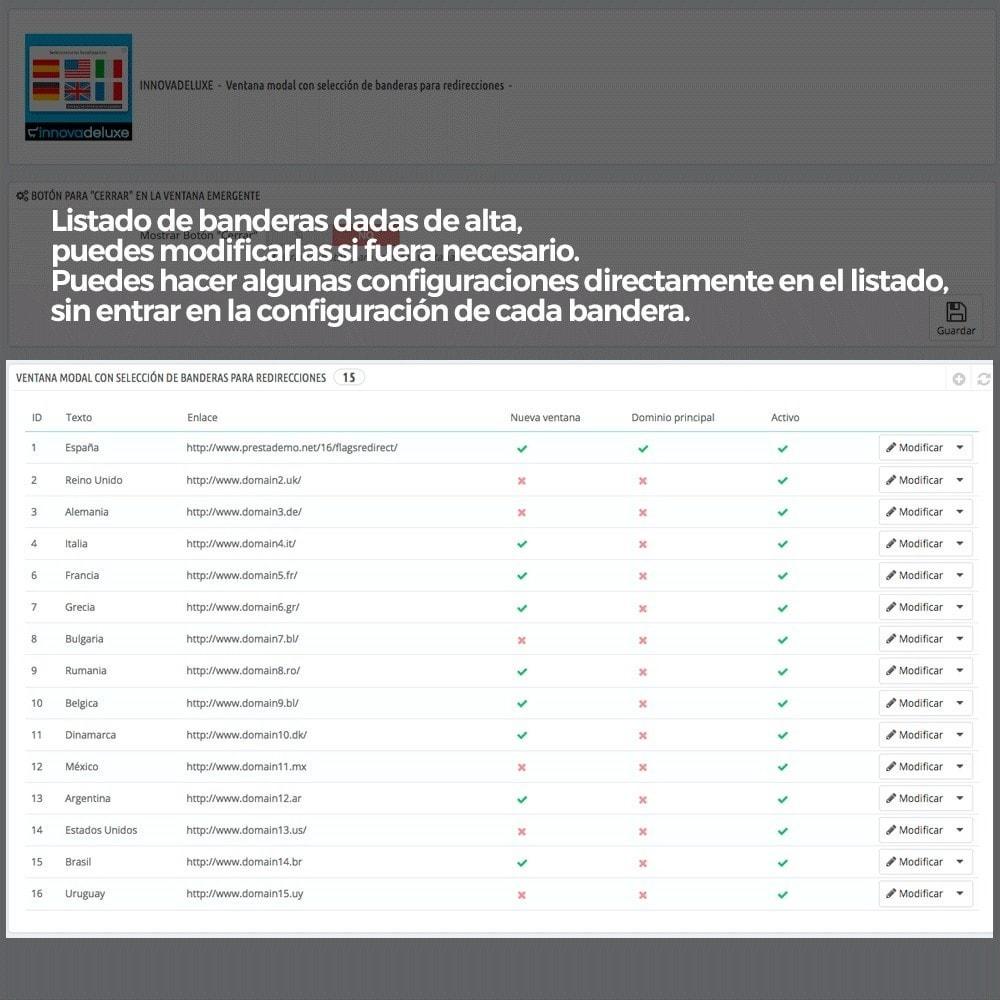 module - URL y Redirecciones - Popup con banderas para redireccionar a otros webs - 6