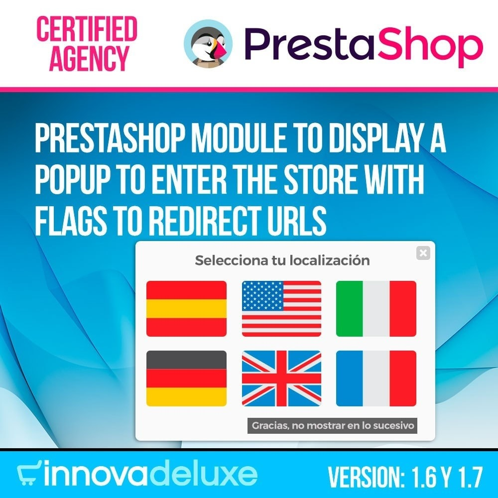 module - URL & Redirect - Popup with flags to redirect to other webs - 1