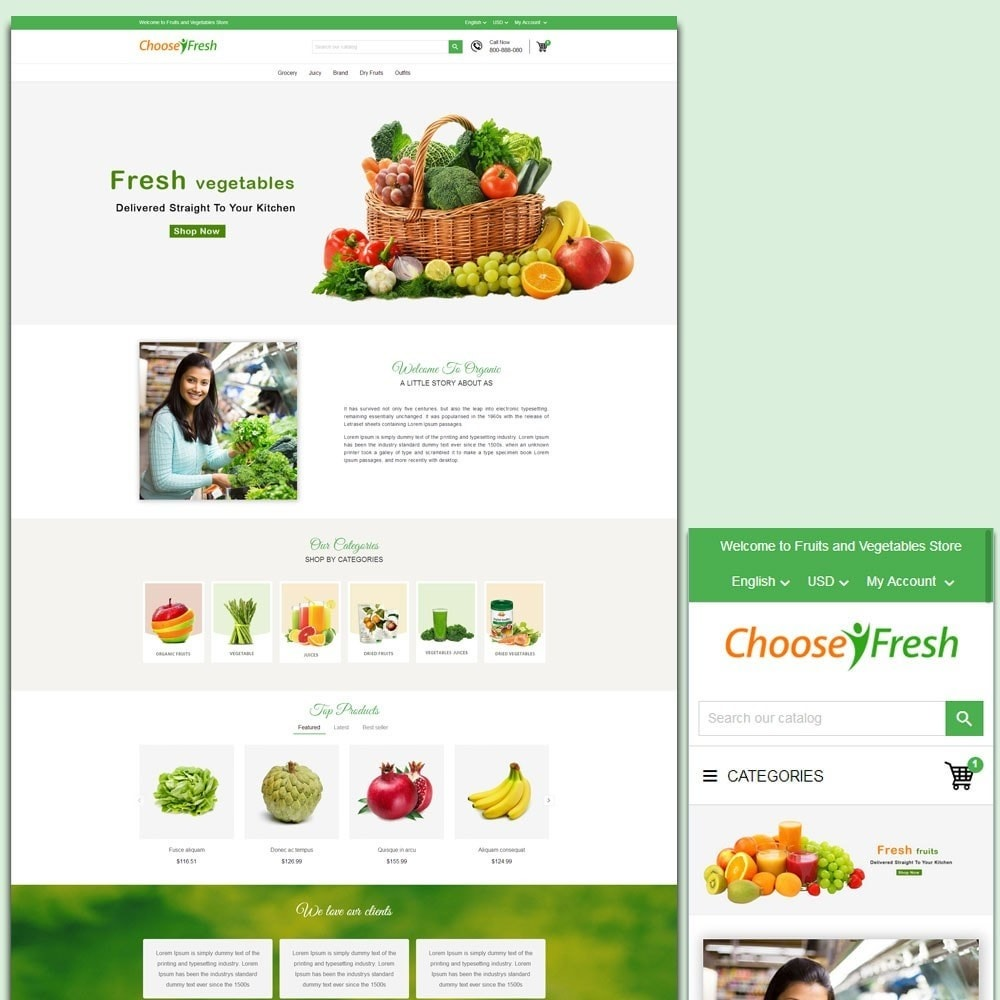 theme - Cibo & Ristorazione - Fresh Fruits And Vegetables Store - 1
