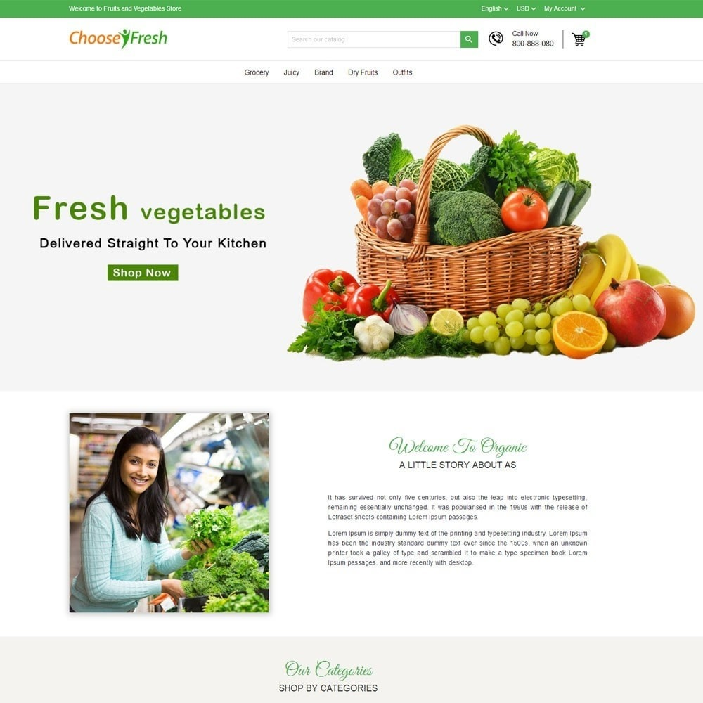 theme - Cibo & Ristorazione - Fresh Fruits And Vegetables Store - 2