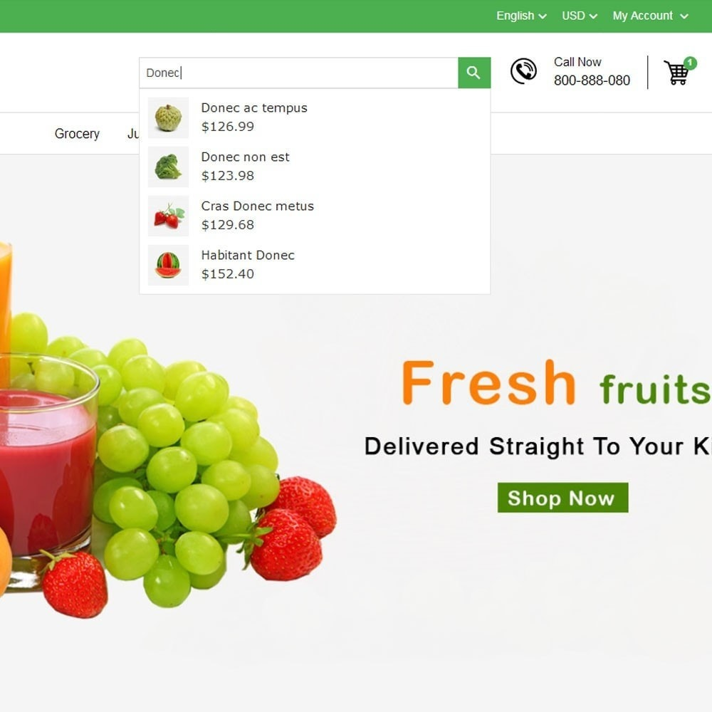 theme - Cibo & Ristorazione - Fresh Fruits And Vegetables Store - 3