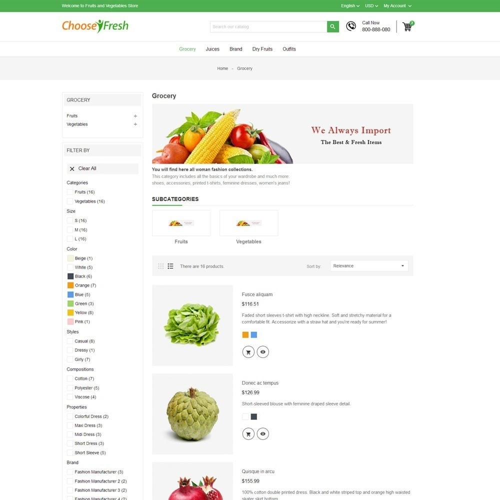 theme - Cibo & Ristorazione - Fresh Fruits And Vegetables Store - 6