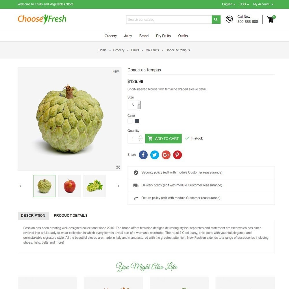 theme - Cibo & Ristorazione - Fresh Fruits And Vegetables Store - 7