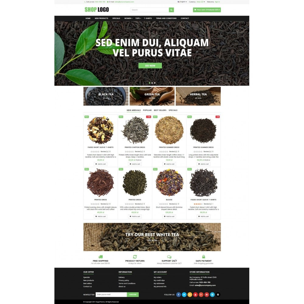 theme - Salud y Belleza - P16AT05 Tea, herbs and medicines store - 2