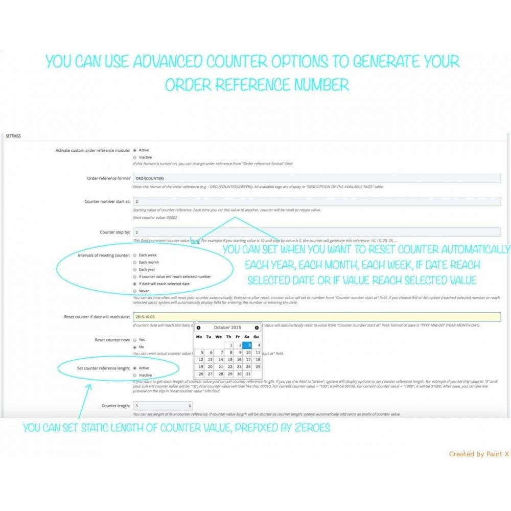 module - Gestione Ordini - Impostazioni avanzate di formato e numero dell'ordine - 5