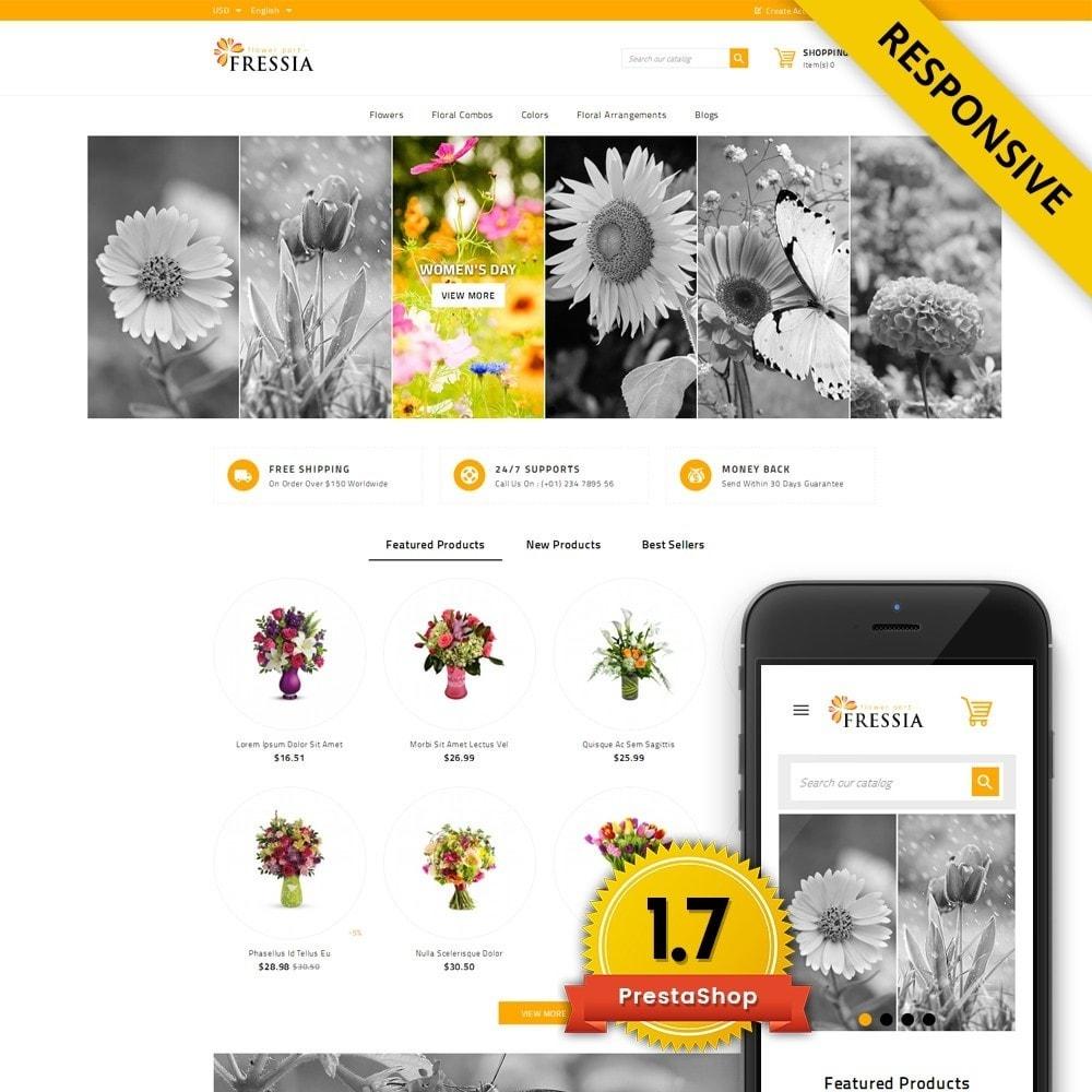 theme - Подарки, Цветы и праздничные товары - Fressia - Flower Store - 1