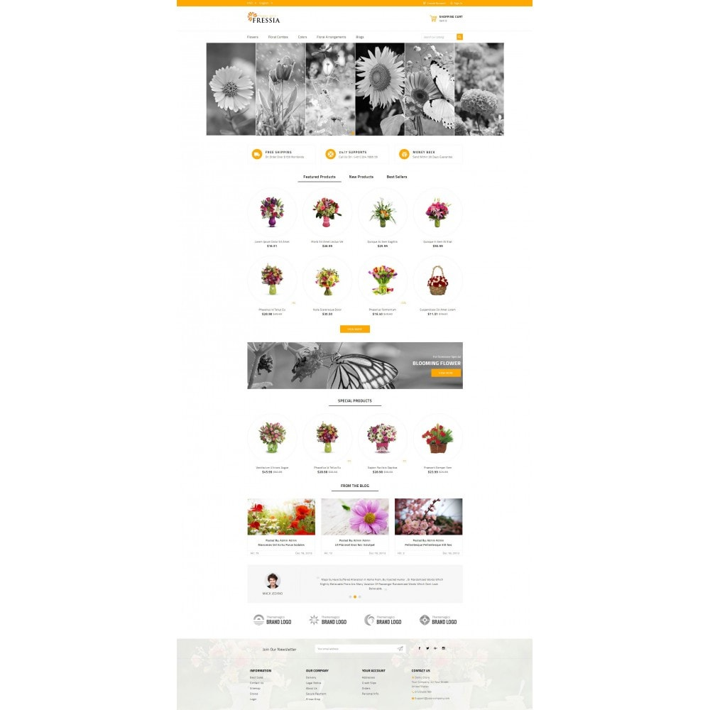 theme - Gifts, Flowers & Celebrations - Fressia - Flower Store - 2