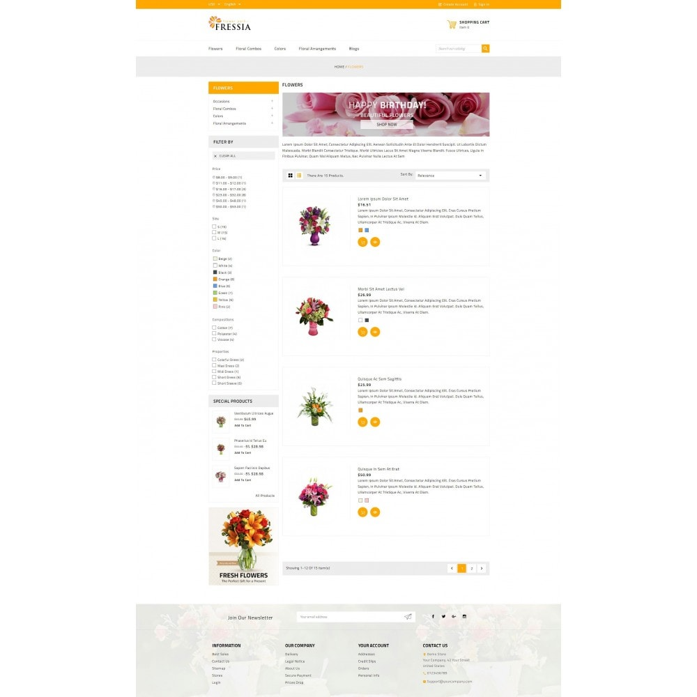 theme - Gifts, Flowers & Celebrations - Fressia - Flower Store - 4