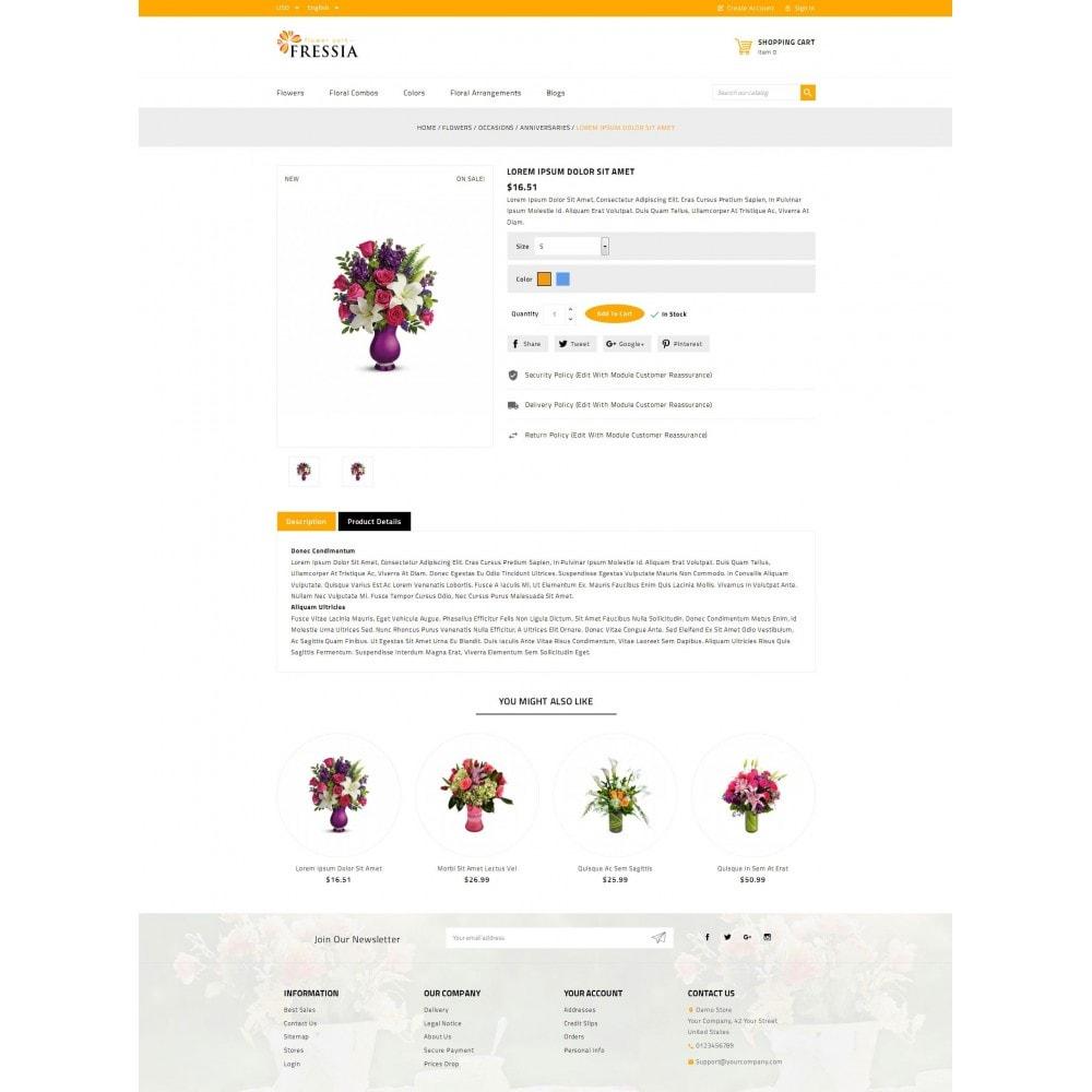 theme - Подарки, Цветы и праздничные товары - Fressia - Flower Store - 5