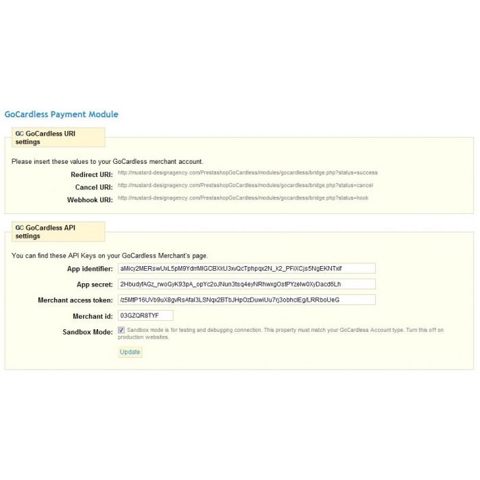 module - Bank Transfer Payment - GoCardless Payment - 3
