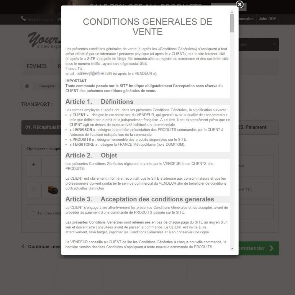 bundle - De aanbiedingen van dit moment: bespaar geld! - Custom Terms and Conditions for France + Cookie Policy Banner (Pack) - 11