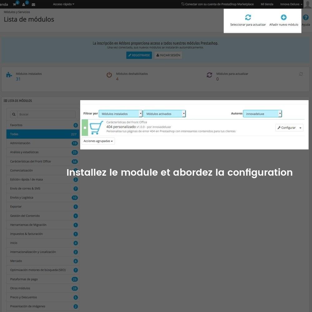 module - URL & Redirections - Personnalisation de la page d'erreur 404 - 2