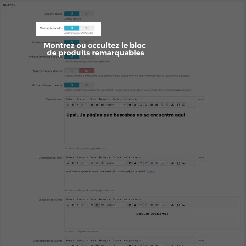 module - URL & Redirections - Personnalisation de la page d'erreur 404 - 5