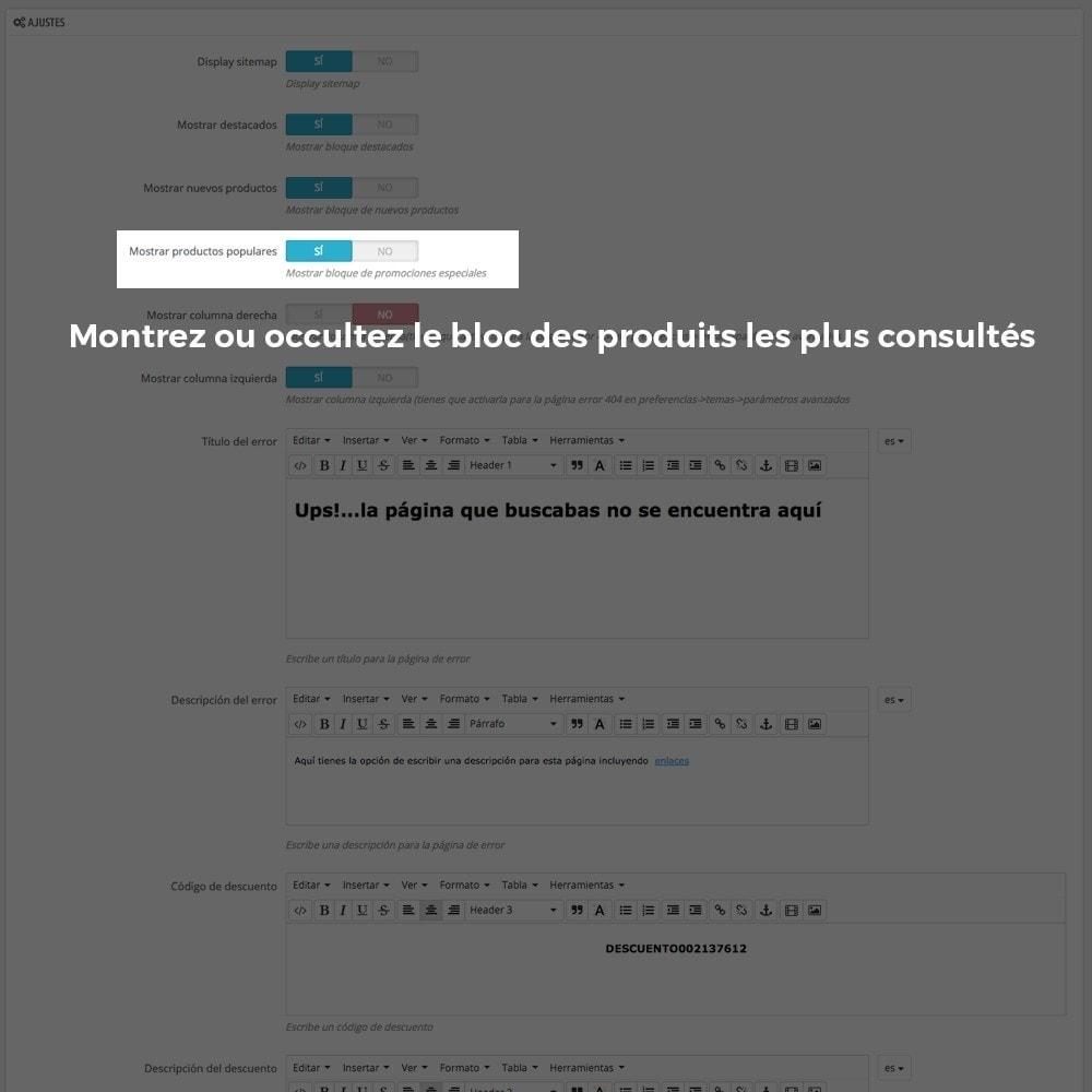 module - URL & Redirections - Personnalisation de la page d'erreur 404 - 9