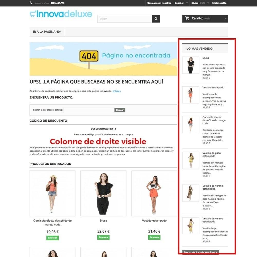 module - URL & Redirections - Personnalisation de la page d'erreur 404 - 13
