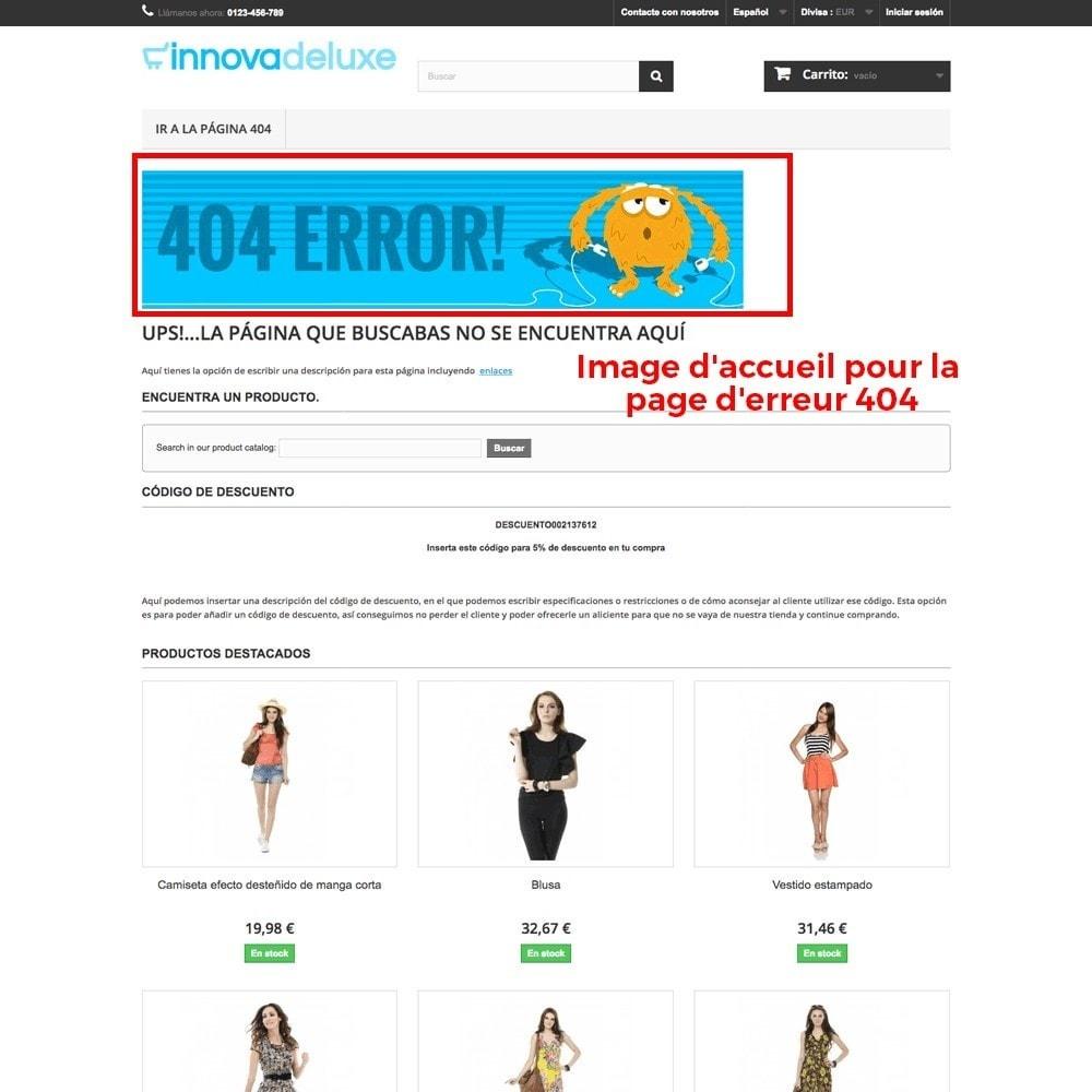 module - URL & Redirections - Personnalisation de la page d'erreur 404 - 25